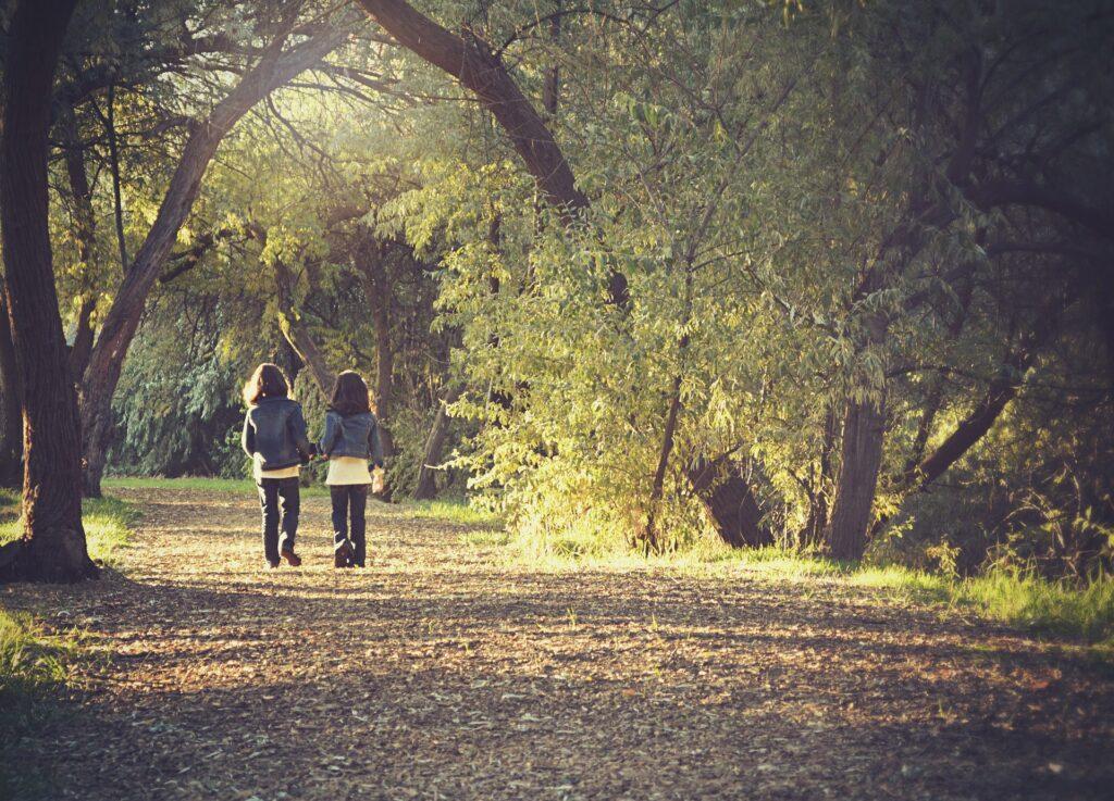 Spacer po lesie - zdrowy tryb życia