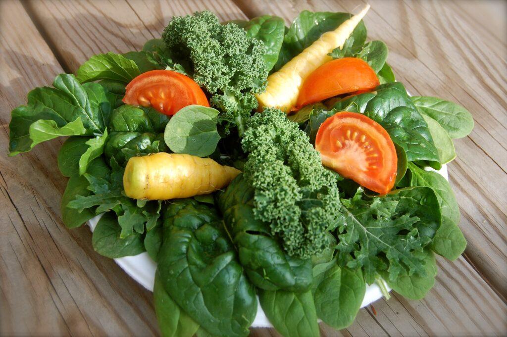 Witamina K - żródłem witaminy są zielone warzywa